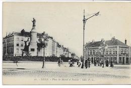CPA NORD LILLE Place Place Saint-Michel Et Pasteur édit PL N°21 - Lille