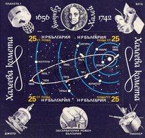 Halleyscher Comet 1986 Bulgaria Block 162 O 2€ Planeten-Bahnen Satelliten Bloque M/s Hojita Bloc Sheet S/s Bf Space - Poste Aérienne
