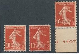 CM-251: FRANCE: Lot Avec  N°134/135**-(135**bord De Feuille 2ème Choix De Gomme) - 1906-38 Sower - Cameo