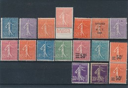 CM-255: FRANCE: Lot Semeuses Neuves* - 1903-60 Semeuse Lignée