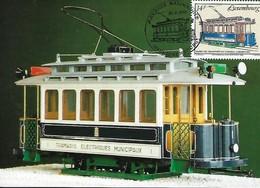 25.9.1993  -  Tramway Electriques Municipaux  Edit. Par Le Service Des Autobus De La Ville De Luxembourg - Cartes Maximum
