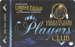 Gold Country Casino - Oroville, CA - BLANK Limited Edition 15th Anniversary Slot Card - Casino Cards