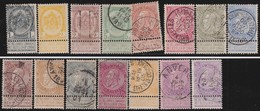 Belgie    .    OBP   .  53/67  ( 54: * )      .   O   .    Gebruikt    .  / .    Oblitéré - 1893-1900 Schmaler Bart