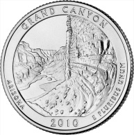"USA QUARTER (1/4 Dollar) 2010 D Mint ""GRAND CANYON"" UNC - 2010-...: National Parks"