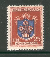 SAN MARINO 1946 25 L Coat Of Arms Scott Cat. No(s). 255 MH - San Marino