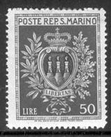 SAN MARINO 1946 50 L Coat Of Arms Scott Cat. No(s). 256 MH - San Marino