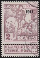 Belgie    .    OBP   .  94        .   O      .    Gebruikt    .  / .    Oblitéré - 1910-1911 Caritas