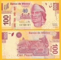 Mexico 100 Pesos P-124k 2013 (Serie AK) UNC - Mexico