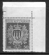 SAN MARINO 1946 50 L Coat Of Arms Scott Cat. No(s). 256 MNH - San Marino