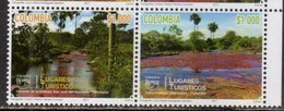 COLOMBIA, 2018, MNH, UPAEP, TOURIST DESTINATIONS, TREES, LANDSCAPES,2v - Holidays & Tourism