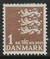 Denmark, 1946, 1 Kr, MH * - Unused Stamps