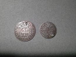 Lot 2 Moedas Brazil: 160 Reis 1773, 80 Reis 1768 D.Jose I  Silver - Portugal