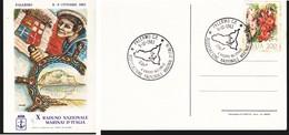 ITALIA REP. 1983 - CARTOLINA RADUNO NAZIONALE MARINAI D'ITALIA.ANNULLO PALERMO. - 1981-90: Storia Postale