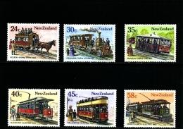 NEW ZEALAND - 1985  VINTAGE TRAMS  SET MINT NH - Nuova Zelanda