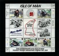 ISLE OF MAN - 1991  TOURIST TROPHY MOUNTAIN COURSE  MS  MINT NH - Isola Di Man