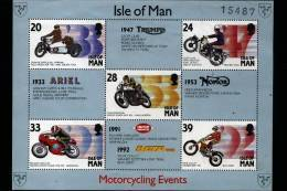 ISLE OF MAN - 1993  MOTORCYCLING EVENTS  MS MINT NH - Isola Di Man