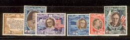 SAN MARINO 1947 Surcharged FDR And Flags Scott Cat. No(s). 257G-257I & C51I-C51K MH - San Marino