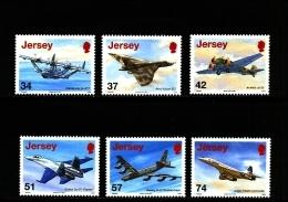 JERSEY - 2007  AVIATION HISTORY  SET  MINT NH - Jersey