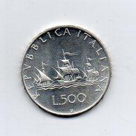 """ITALIA - 1970 - 500 Lire """"Caravelle"""" - Argento 835 - Peso 11 Grammi - (MW2155) - 1946-… : Repubblica"""