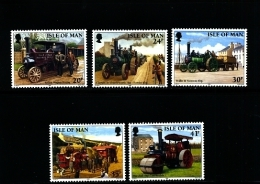 ISLE OF MAN - 1995  STEAM  TRACTION  ENGINES  SET  MINT NH - Isola Di Man