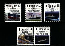 GIBRALTAR - 2012  TITANIC  SET  MINT NH - Gibilterra
