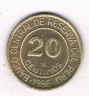 20 CENTIMOS 1986  PERU /3232/ - Peru