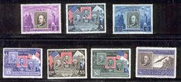 SAN MARINO 1947 U.S. Stamps On Stamps Scott Cat. No(s). 266-271, C55 - Unused Stamps