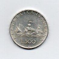 """ITALIA - 1964 - 500 Lire """"Caravelle"""" - Argento 835 - Peso 11 Grammi - (MW2157) - 1946-… : Repubblica"""
