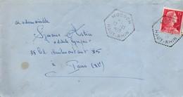 Moosch 1955 - Hexagonal Sur Muller - Agence Rurale - Storia Postale