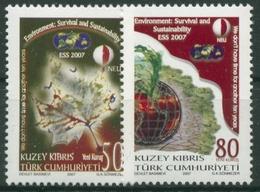 Türkisch-Zypern 2007 Umweltschutzkonferenz: Nachhaltigkeit 653/54 Postfrisch - Chypre (Turquie)