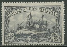 Deutsch-Südwestafrika 1906 Kaiseryacht Hohenzollern 31 Ba Postfrisch - Kolonie: Deutsch-Südwestafrika
