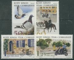 Türkisch-Zypern 2007 Die Post Einst Und Jetzt 667/70 Postfrisch - Chypre (Turquie)
