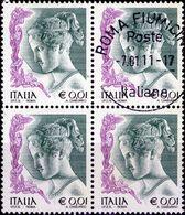REPUBBLICA 2002 - DONNE NELL'ARTE, DONNA 0,01 - 1 VALORE IN QUARTINA - 2001-10: Usati