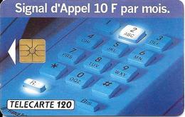 CARTE-PUBLIC-1993-F 365B.981-120U-GEMA-2e Logo-SIGNAL D APPEL 3-N°B350U0009- UTILISEE-TBE- - France