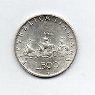 """ITALIA - 1965 - 500 Lire """"Caravelle"""" - Argento 835 - Peso 11 Grammi - (MW2160) - 1946-… : Repubblica"""