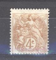 France  :  Yv  110  ** - 1900-29 Blanc