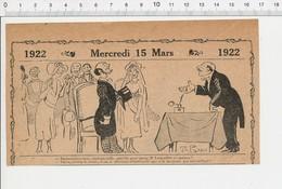 2 Scans De 1922 Humour Cérémonie Mariage Mairie Maire Larfouillat Chien D'aveugle Caniche Foudre Orage 226B - Vieux Papiers