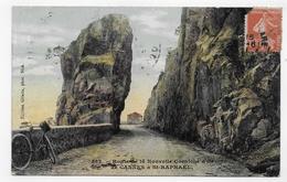 (RECTO / VERSO) ROUTE DE LA NOUVELLE CORNICHE DE CANNES A ST RAPHAEL EN 1911- N° 562 - CPA VOYAGEE - Saint-Raphaël