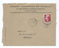 3107 Monaco Compagnie Internationale Des Wagons Lits 1951 Monte Carlo YT 348 Rainier III Pour Marseille WORMS - Marcophilie