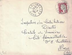 GARD - SALINELLES - TYPE MARIANNE DE DECARIS - CACHET A TIRETS DU 29-2-1964. - France