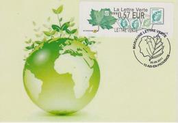 Carte - Bureau Temporaire - Aix En Provence - La Lettre Verte  30/09/2011 - Gedenkstempels