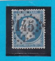 N° 22  GC  2145    LYON   / 68- RHONE - REF 14616 - 1862 Napoleon III