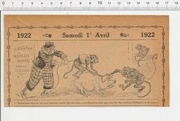 2 Scans De 1922 Humour Animaux Savants Animal Singe Cirque ?? Mendicité Mendiante Change Bancaire Des Monnaies 226B - Vieux Papiers