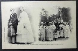 CPA 29 DOUARNENEZ - Costumes De Jeune Fille Et De Femme Pour Une Procession - Villard 1153 Précurseur - Ref. N 167 - Douarnenez