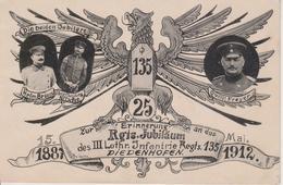 57 - THIONVILLE - 25° JUBILE DU 135 REGT - CARTE RARE - Thionville