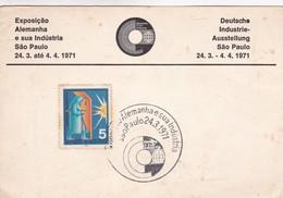 EXPOSIÇAO ALEMANHA E SUA INDUSTRA. SPECIAL CARD SAO PAULO 1971  - BLEUP - Brésil
