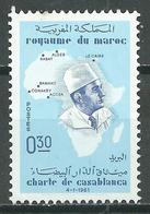 Maroc YT N°428 Charte De Casablanca Neuf ** - Marokko (1956-...)