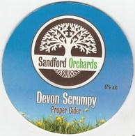 SANDFORD ORCHARDS CIDER (ENGLAND) - DEVON SCRUMPY - PUMP CLIP FRONT - Signs