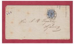 DANEMARK -2 SKILLING SUR LETTRE DE AALBORG POUR HJORRING -- TARIF IMPRIME -- - 1864-04 (Christian IX)