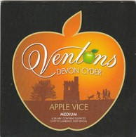 VENTONS CIDER (CLYST ST LAWRENCE, ENGLAND) - APPLE VICE - PUMP CLIP FRONT - Signs